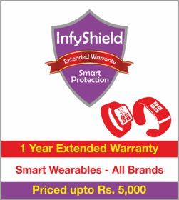 InfyShield 1 Yr Extended Warranty on Smart Wearables Priced Upto Rs.5000