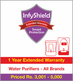 InfyShield 1 Yr Extended Warranty on Water Purifiers Priced Rs.3001 - 5000