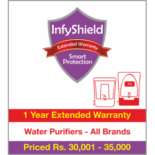 InfyShield 1 Yr Extended Warranty on Water Purifiers Priced Rs.30001 - 35000