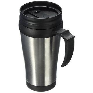 6th Dimensions Stainless Steel Travel Mug, 450 ml