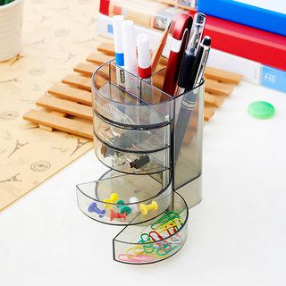 Office Desktop Organizer Storage Pen Pencil Box Stationery Holder Case Container