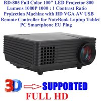 FULL HD IMPORTED 3D LED PROJECTOR HDMI VGA TV AVI USB