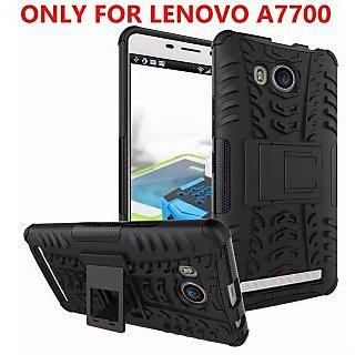 Lenovo A7700 DEFENDER BACK COVER Armor black case with kickstand