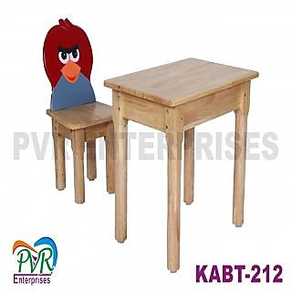 Single angry bird chair with table for kids
