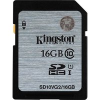 Kingston 16 GB SDHC Class 10 80 MB/S Memory Card