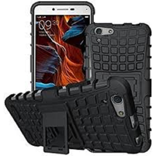 Vivo Y55 Defender Back Cover Case Tough Hybrid Armour Shockproof Hard with Kick Stand Rugged Back Case Cover
