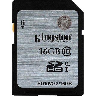 Kingston 16 GB SDHC Class 10 80 MB/S Memory Card