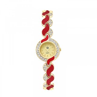 Shostopper Lovable Golden Dial Analogue Watch For Women - SJ62063WW