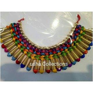 Multicolor Fancy Western Necklace For Girls/Women