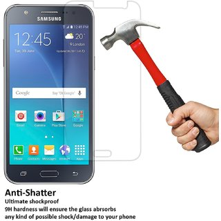 Samsung Galaxy J7 - Tempered Glass Screen Protector with 2.5D Round Edge 9H Hardness Crystal Clear Scratch-Resist