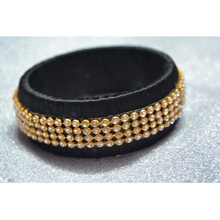 gold plated silk thread bangle