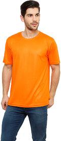 Grand Bear Men's Orange Round Neck T-Shirt