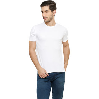 Grand Bear Men's White Round Neck T-Shirt
