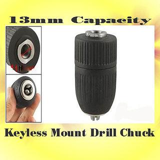 13mm Capacity Keyless Mount Drill Chuck Ergonomically Designed