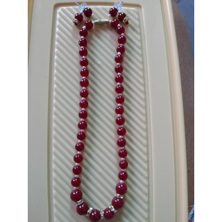Red Beaded with Diamonds