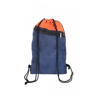 Roadeez Unisex Orange Polyester Water Resistant Solid Drawstring Bag
