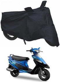 ShopLand Premium Quality Bike Body cover with 2 Mirror Pocket For TVS Pep Plus