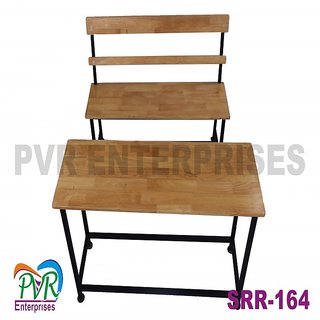 Separate bench desk with back rest for higher class