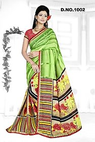 livasa Multicolor Crepe Floral Saree With Blouse