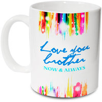 Love You Brother Mug; Ceramic Mug; 350ml; Gift For Your Brother; Hot Muggs