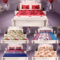 Status cotton rich combo of 5 Double bed bedsheet with 10 pillow cover