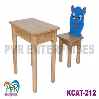 Single cat chair with table for kids