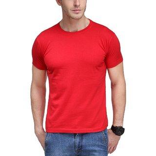 Men's Premium Cotton Red Round Neck T-shirt
