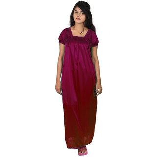 Sai Shop Women's Sleepwear Maroon Nighty