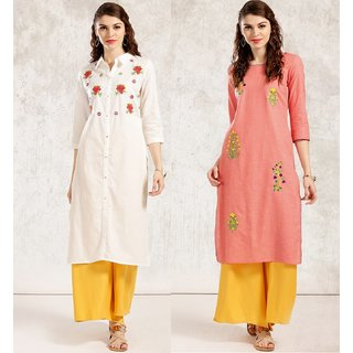 Style Amaze Designer Multi Color Poly Cotton Combo Dress Material-SASUNDAY-888-999 (Unstitched)
