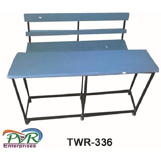 Top wood separate bench desk with back rest for higher class Full Description