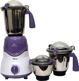 Bajaj Trio LV 600 W Mixer Grinder  (White Lavender 3 Jars)