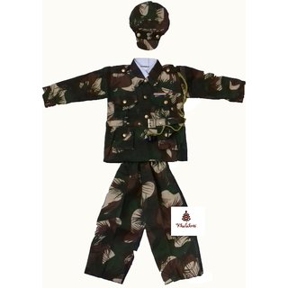 Soldier Army Printed Fancy Dress Costume For Kids