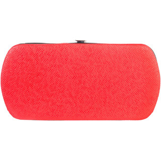 Louise Belgium Orange Plain Zipper Clutch
