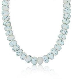 White Printed Resin Beads