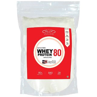 Sinew Nutrition Raw Whey Protein Concentrate 79%, 840 g Whey Protein (840 g, Unflavored)