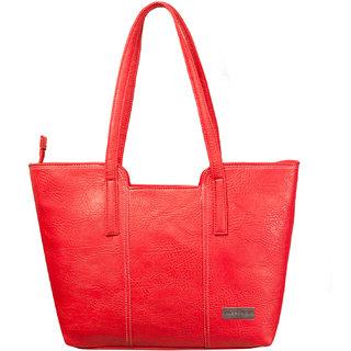 Louise Belgium Red Plain Zipper Clutch