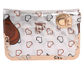 Louise Belgium Multicolor Plain Zipper Clutch