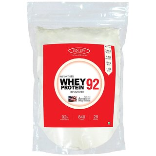 Sinew Nutrition Instantised Whey Protein Isolate 92 Raw and Unflavoured 840gm(28 Servings) Supplement Powder