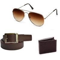 JBG Home Store Men's Combo of Sunglass, Wallet and Belt