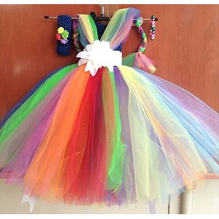 Buy Little Princes Kids Girls Baby Princess Satin And Soft Net Party