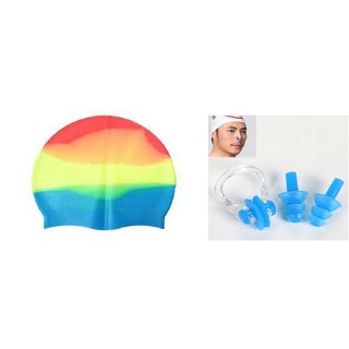 a7d01adccde90c Plyr Swimming Combo (Swimming Cap + Nose Pin + Ear Pin) - Assorted