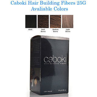 Caboki Hair Building Fibers 25 Grams Natural Black Color.!!