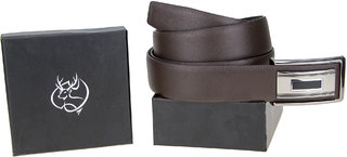 Genious Brown 041 Leather Formal Belt For Men