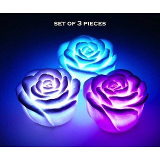 Buy Premium Led Rose Light 7 Changing Color Floating Rose Flower