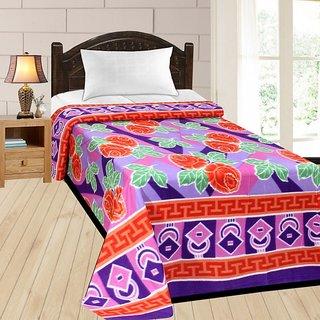 Azaani super soft ac printed single bed blanket