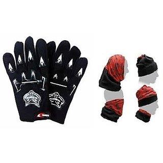 Buy Summer Combo Black Knighthood Glove+ Buff Headwear Online - Get ... df8f757a15d8