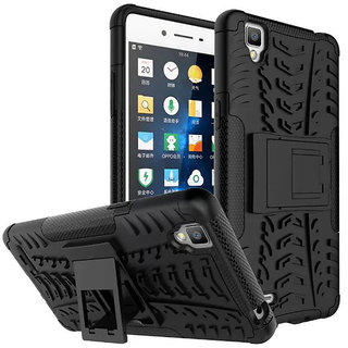 Oppo F1 Defender Back Cover Defender Tough Hybrid Armour Shockproof Hard with Kick Stand Rugged Back Case