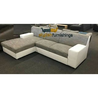 Buy White L Shaped Sofas Set Online At 45000 From Shopclues