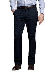 Inspire Blue Slim Fit Formal Trouser