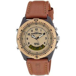 Timex Quartz Brown Round Unisex Watch MF13